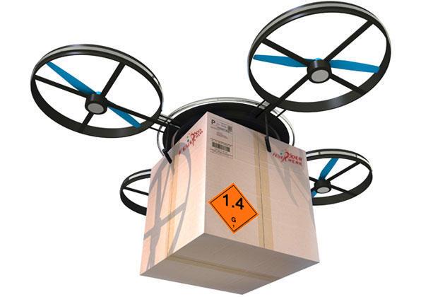 Der Versand von Feuerwerk wird immer teurer, daher sollen in Zukunft Drohnen die Feuerwerk Bestellungen zum Kunden bringen